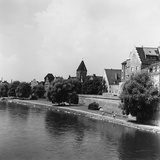 Pietro Ronchetti - View of the Danube from Ulm, in Baveria Fotografická reprodukce