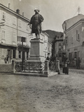 Monument to Maximilian in Plaza of Cormons During the First World War Photographic Print by Luigi Verdi