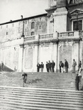 Downhill Bike from the Steps of the Trinita Dei Monti in Rome Photographic Print by Luigi Leoni