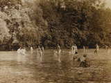 WWI: Soldiers While Bathing in the River Natisone in Premariacco Photographic Print by L. Verdiani