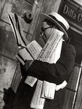Man Reading Newspaper Photographic Print by Luigi Leoni