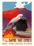 The New Empire State Express - Steamlined Locomotive Train Engine - New York Central System Prints by Leslie Darrell Ragan