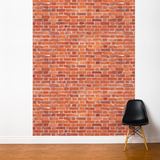 Red Brick Wall Mural