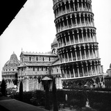 The Tower, One Arm of the Transept of the Cathedral and the Baptistry of Pisa Photographic Print by Pietro Ronchetti
