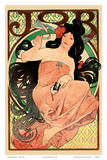 Job - Cigarette Rolling Papers Advertisement - Art Nouveau Print by Alphonse Mucha