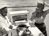 The French Actress Helen Remy Eating an Ice Cream Photographic Print by Luigi Leoni