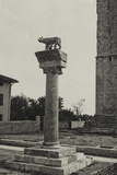 Visions of War 1915-1918: Column with the She-Wolf of Rome and the Date 1915 Photographic Print by Vincenzo Aragozzini