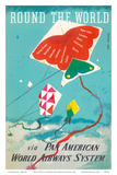 Round the World - Kites - via Pan American World Airways Posters by Dong Kingman