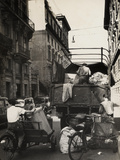 Trash Collection on a Street of Rome Photographic Print by Luigi Leoni