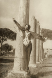 Dancer Interprets the Firebird in Ostia Antica Photographic Print by Luigi Leoni