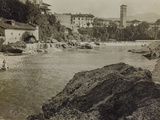 The River Natisone in Cividale During the First World War Photographic Print by Luigi Verdi