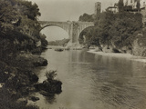 Devil's Bridge in Cividale During the First World War Photographic Print by Luigi Verdi