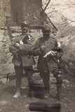 Free State of Verhovac-July 1916: Italian Soldiers with the Goats in Arm in Val D'Aupa Photographic Print