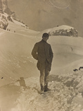 World War I: Portrait of Soldier in the Snow Photographic Print