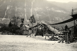 Bridge over the Isonzo River Destroyed by World War I Bombings in Plezzo, Slovenia Photographic Print by Ugo Ojetti