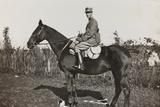 War Campaign 1917-1920: the Officer Brusati on Horseback Near the River Isonzo Photographic Print