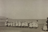 A Group of Children of the American Red Cross Orphanage During a Beach Outing in Manfredonia Photographic Print
