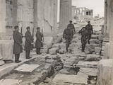 The Supreme Allied Commander Sir Harold Alexander Visiting the Acropolis of Athens Photographic Print
