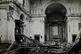 Church Destroyed by Italian Artillery Attacking Austro-Hungarian Troops During the First World War Photographic Print