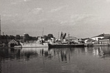 First World War: Naval Vessel Along the Dock of Ostend Photographic Print