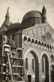The Gattamelata Equestrian Monument, under Restoration, in Padova During WWI Photographic Print by Ugo Ojetti