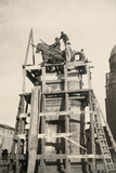 The Gattamelata Equestrian Monument under Restoration in Padova During WWI Photographic Print by Ugo Ojetti