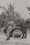 Campagna Di Guerra 1915-1916-1917-1918: Two Officers with a Sidecar Photographic Print
