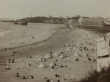 Self Family Trip in Europe: a View of the Biarritz Beach Photographic Print