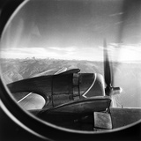 The Wing of a Plane Flying over Peruvian Mountains Photographic Print by Pietro Ronchetti