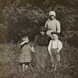 WWI: Children of Soleschiano with Mom and Grandma Photographic Print