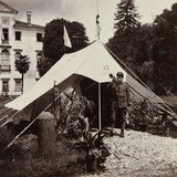 WWI: Acceptance Tent in Front of Villa Brazzà Photographic Print