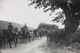 World War I: Command of the Artillery on the March to the War Front Photographic Print