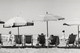 Row of Umbrellas and Chairs-Beach in Viareggio Photographic Print by Renzo Ferrini