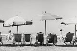 Row of Umbrellas and Chairs-Beach in Viareggio Photographic Print by Renzo Ferrini