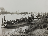 First World War: Austrian Soldiers on a Boat on the River Isonzo Near San Canzian D'Isonzo Photographic Print