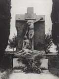 Piety in the Cemetery of Aquileia Performed by an Italian Soldier of the Third Army Photographic Print