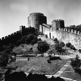 A Torret and Part of the Fortified Walls of the Castle of Rumeli Hisari on the Bosporus Photographic Print by Pietro Ronchetti