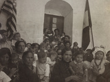 A Group of Women with Children Photographed in the Courtyard of a Convent Photographic Print