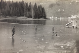 World War I: Italian Soldiers on the Frozen Lake of Alleghe Photographic Print