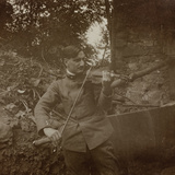 Italian Soldier with Violin Photographic Print
