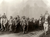 The Image Shows a Group of German Prisoners, in the Flanders, Escorted by Algerian Light Cavalrymen Photographic Print