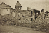 Visions of War 1915-1918: the Ruins of the Church of Spresiano Photographic Print by Vincenzo Aragozzini