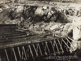 Leadership Corps of Engineers 2nd Area 3rd Army, Construction of Cavalvavia Polazzo During WWI Photographic Print
