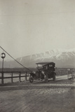 Car Crossing the Piave River on the Way to Belluno Photographic Print