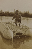 Campagna Di Guerra 1915-1916-1917-1918: Jack Bosio in Uniform on Boat Photographic Print