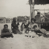 War Campaign 1917-1920: Group Photo on the Beach Photographic Print