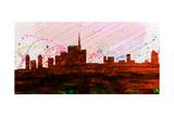 Milan City Skyline Art