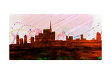 Milan City Skyline Art by  NaxArt