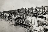 Reconstruction of the Railroad Bridge over the Piave River at Susegana (Mountain Side) Photographic Print