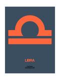 Libra Zodiac Sign Orange Prints